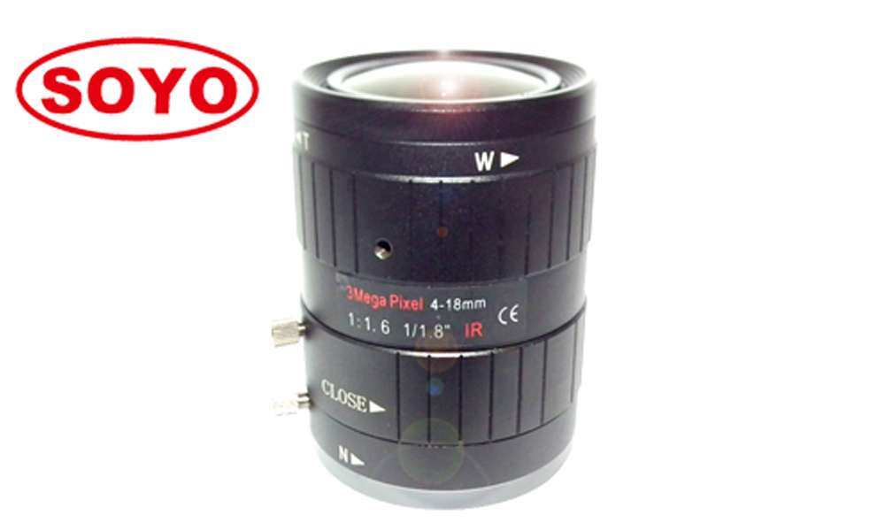"3.0 Megapixel lens 4-18mm 1/1.8"" manual iris cctv lenses"