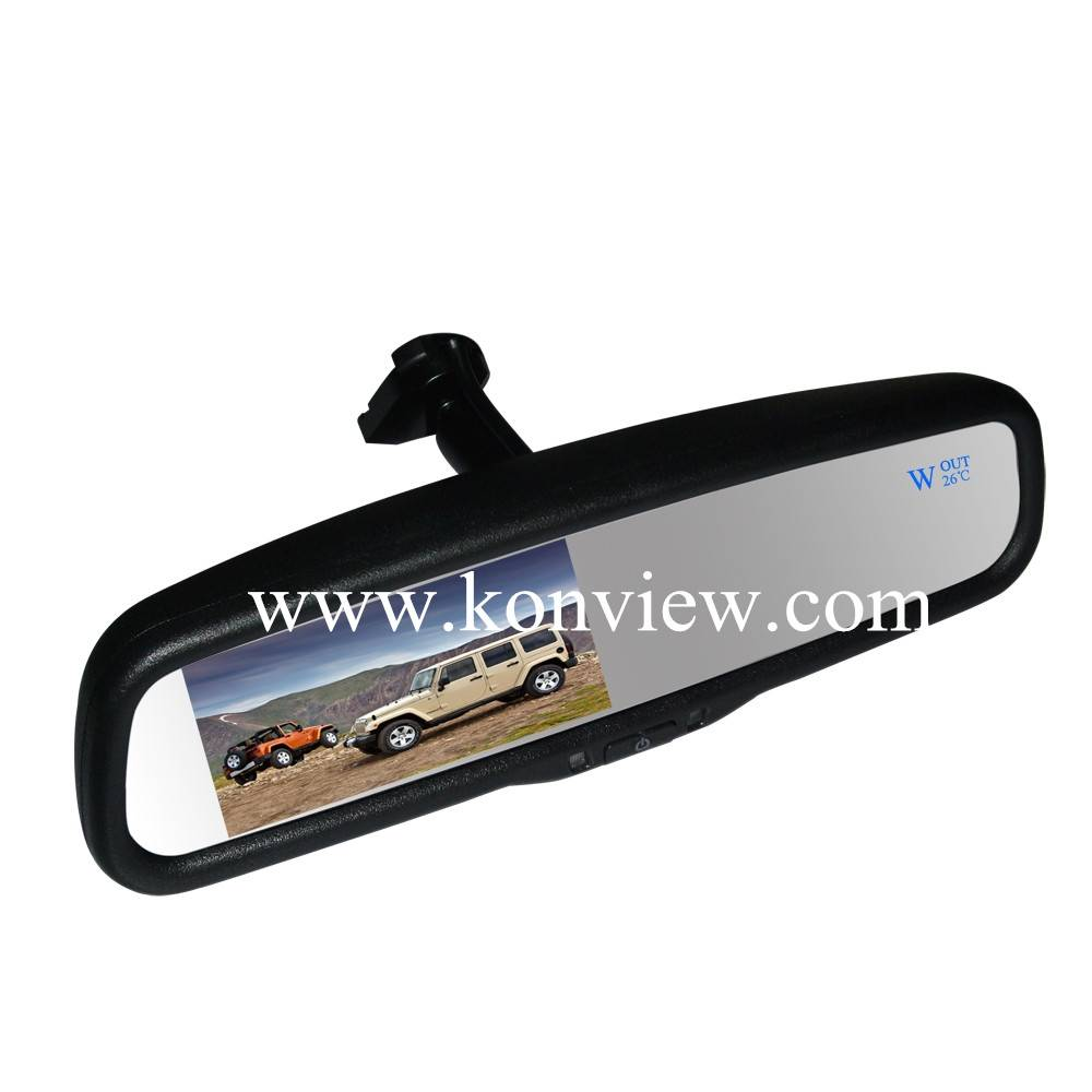 "4.3"" OE styled mirror monitor--LCD auto dimming (Temperature and Compass)"