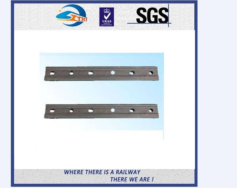 ZhongYue Plain Surface 6 Holes Rail Joint Bar Railroad Fish Plate For UIC60 UIC54 Steel Rail