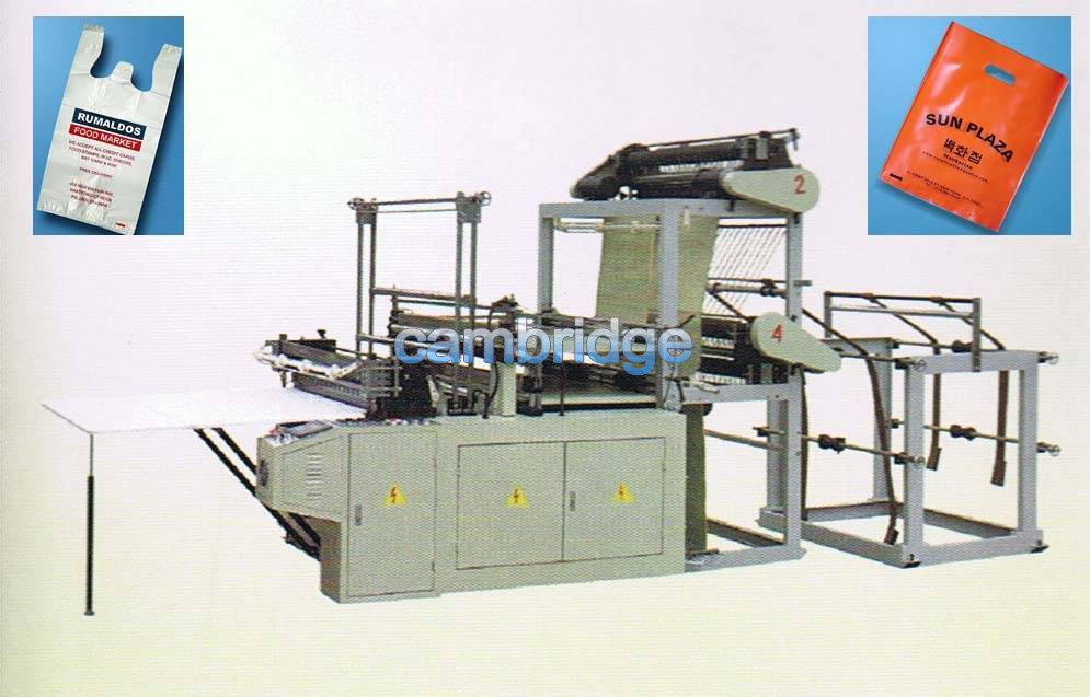 Four lines Heat sealing and cold cutting Bag Making Machine
