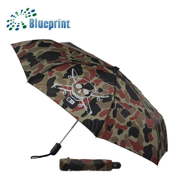 Skull Printed Cheap Promotion 3 folding umbrella