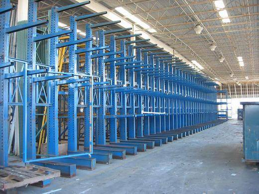 Cold Steel q235 Heavy Weight Cantilever Racking System For  Mechanical Industrial