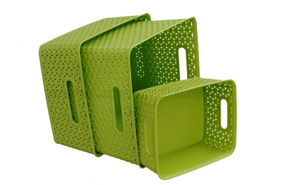 plastic Vine tattoo laundry basket mould