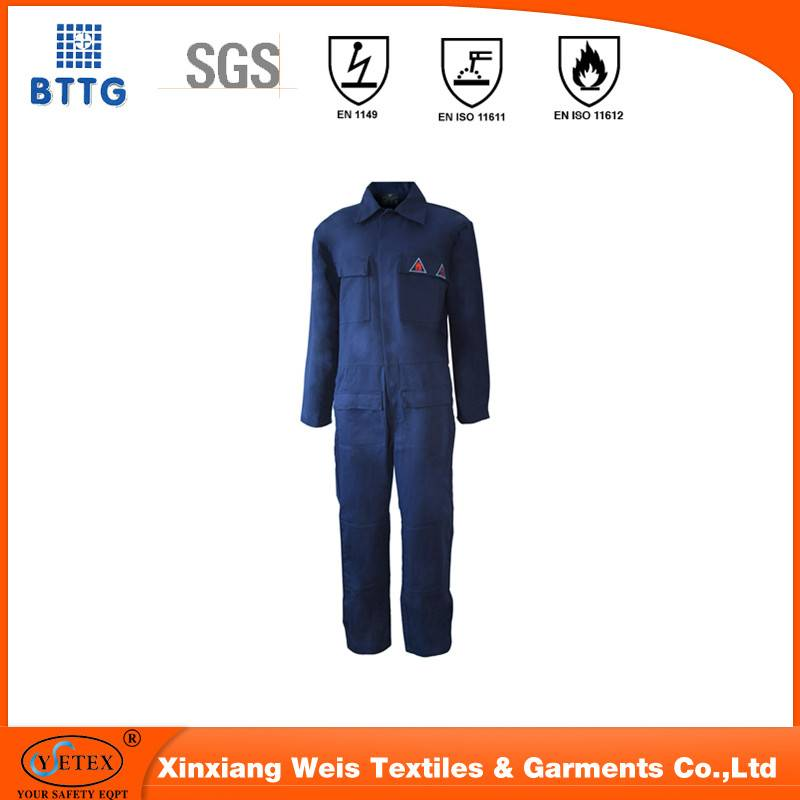 100% cotton anti fire coverall | fireproof fabric for protective apparel