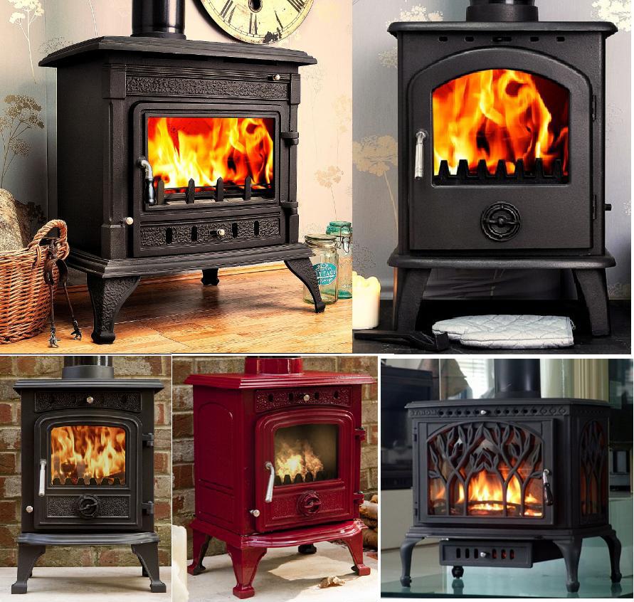 cast iron multi fuel stove