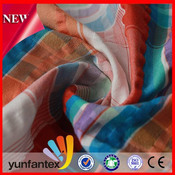 2016 Fashion Shirt Garment Cotton Yarn Dyed Fabric