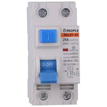 Electromagnetic RCCB PID residual current circuit breaker