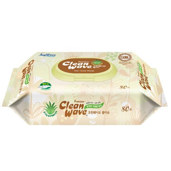 Cleanwave Premium(Wet wipes)-80sheet