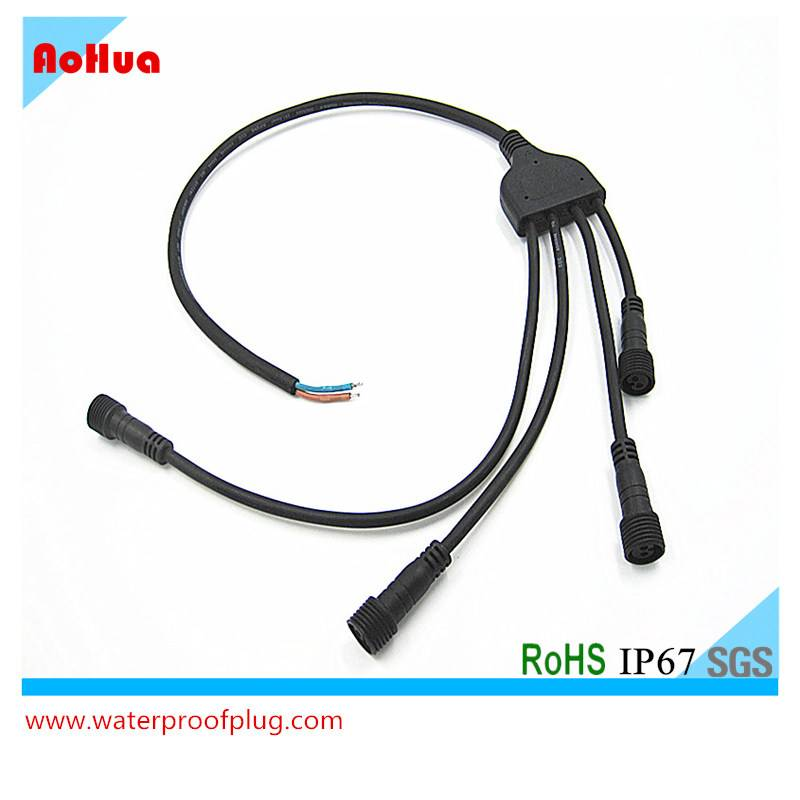 1 in- 4 Out Splitter IP67 Waterproof Cable Branch Y Connector