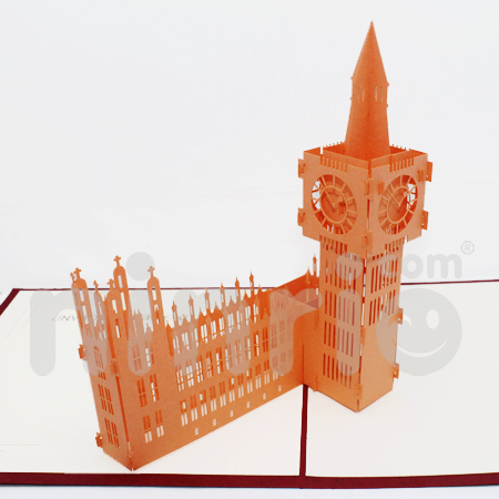 Big Ben Pop Up Card Handmade Greeting Card