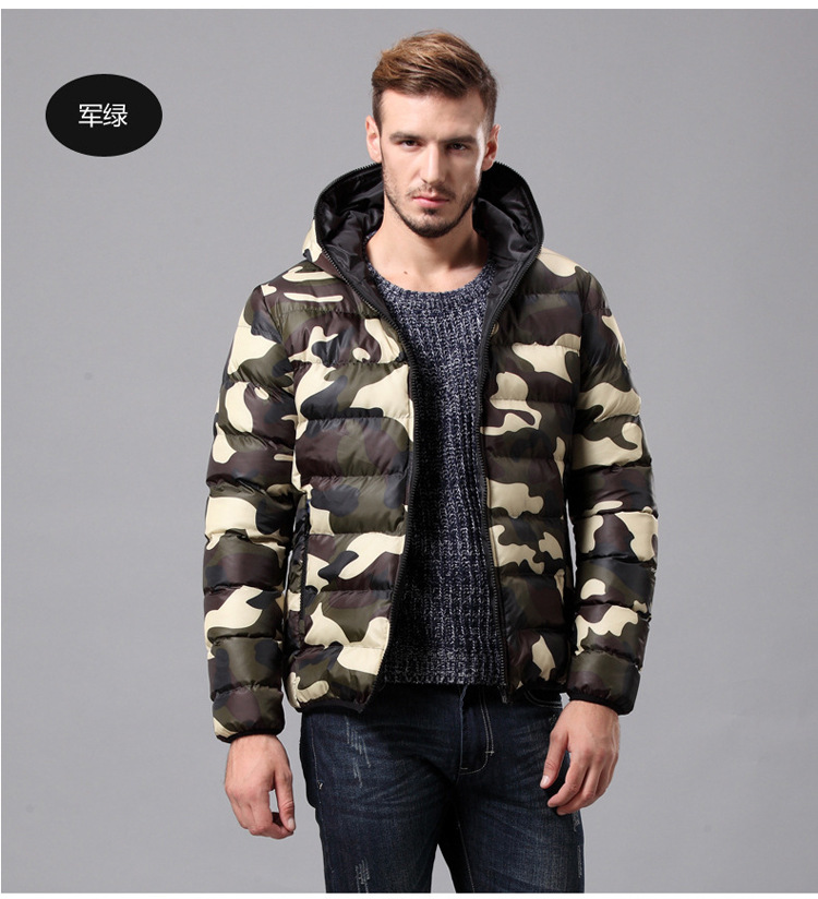 3 Colors Men Cotton Camouflage Jacket