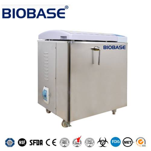 Flip-open door type vertical autoclave