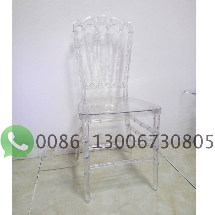 plastic clear crown chair