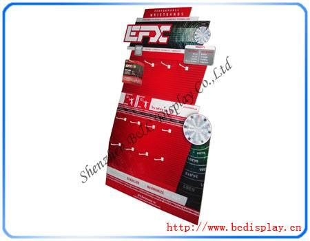 Cardboard Display board with hooks