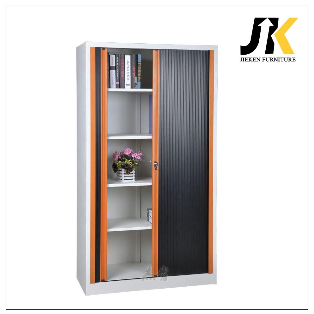 Rolling door metal office cabinets