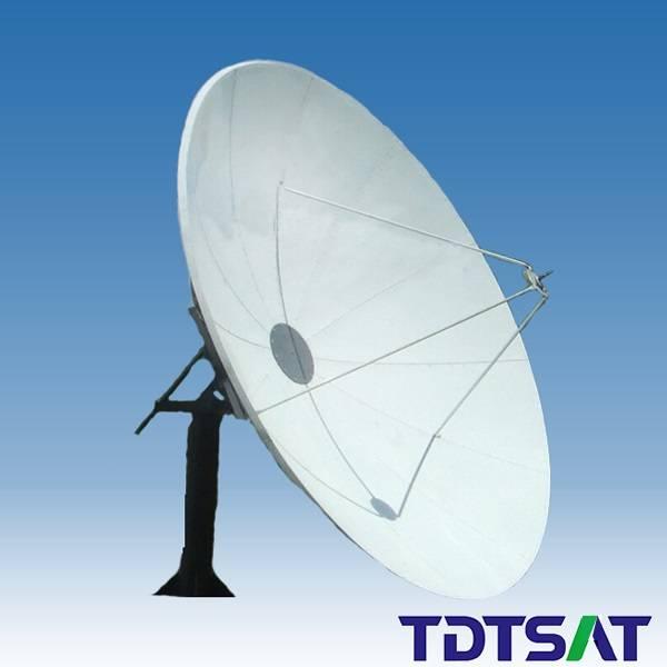 TDT 2.4m C-band satellite communication receiving dish antenna
