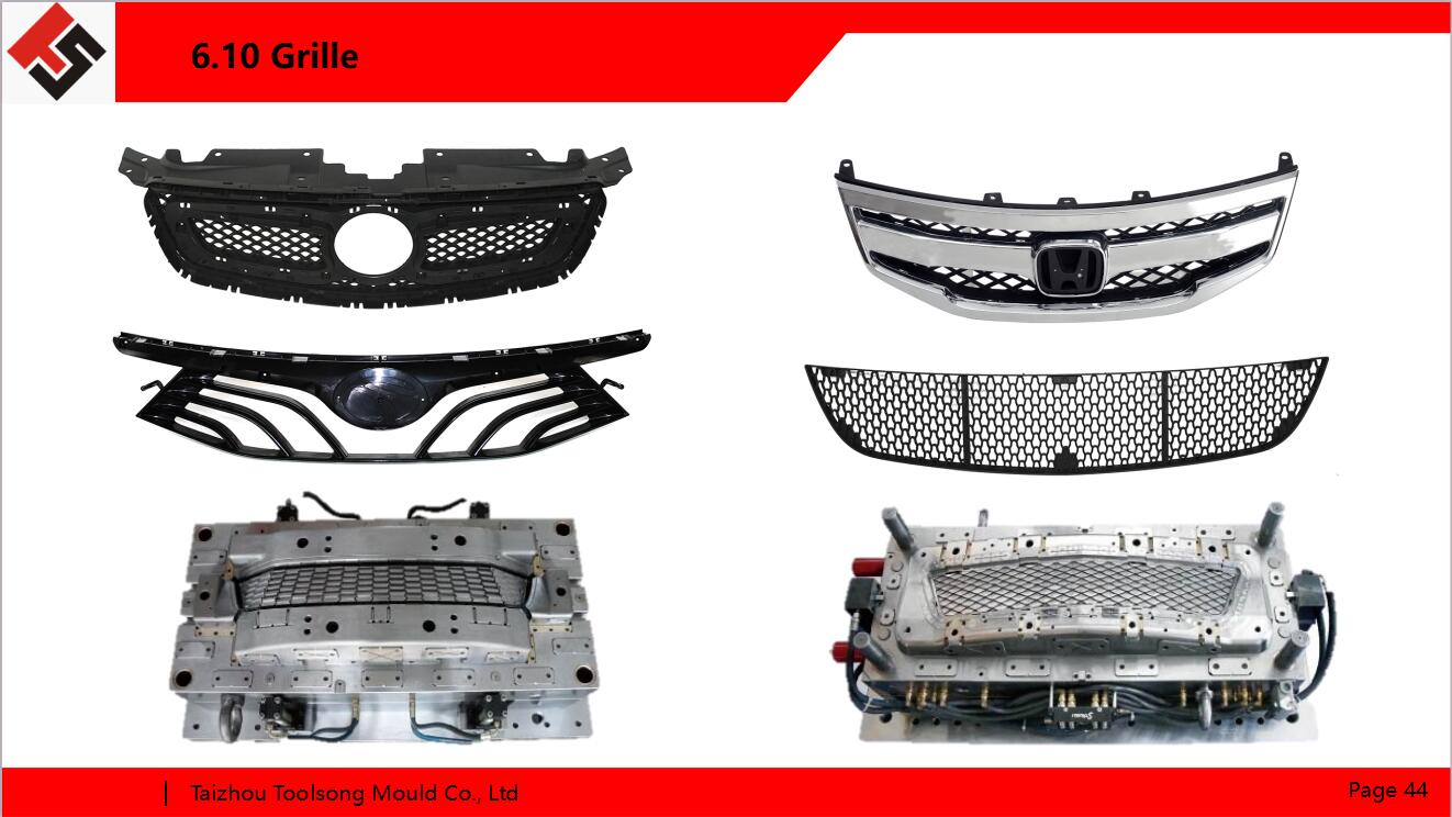 Vehicle grille mold with European tool standard