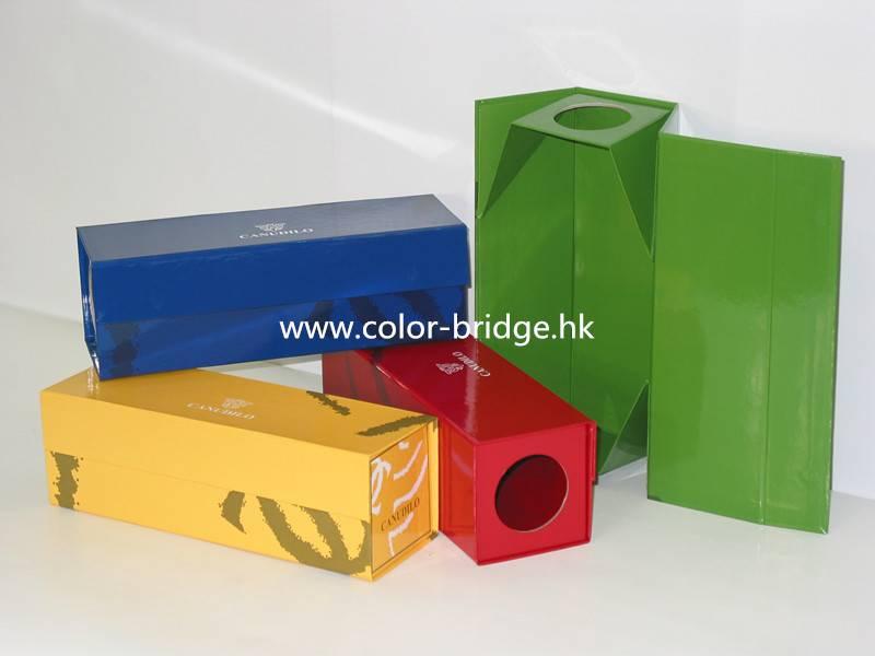 Customizing Folded Cardboard Paper Wine Box