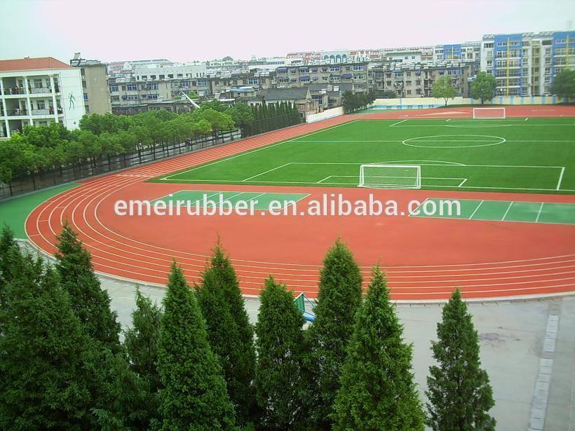 rubber running track surface flooring