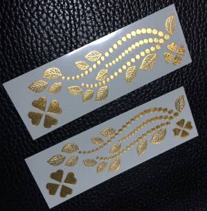Customized Temporary Foil Body Art Tattoo Sticker