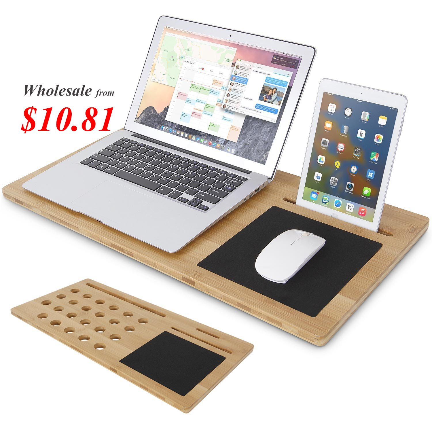 Lifewit Bamboo Laptop Table Slab