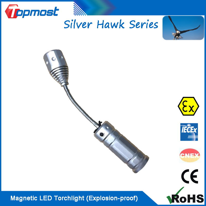 Magnetic LED Torchlight with ATEX IECEX Certificates