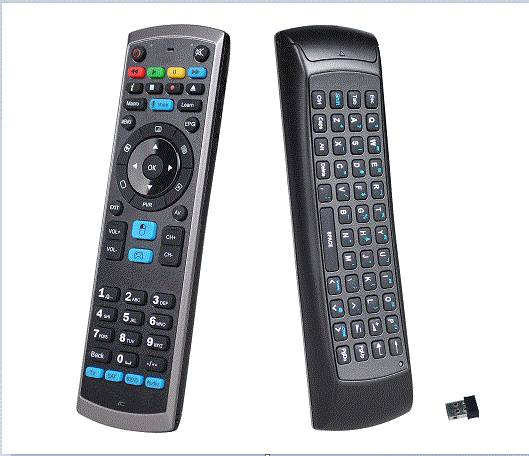 Smart remote with keyboard and air mouse