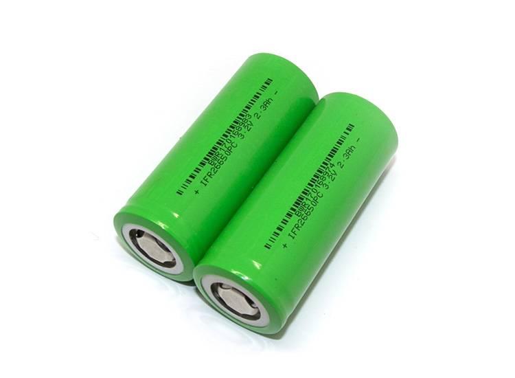 Rechargeable LiFePO4 Battery 20C 26650 3.2v 2300mAh
