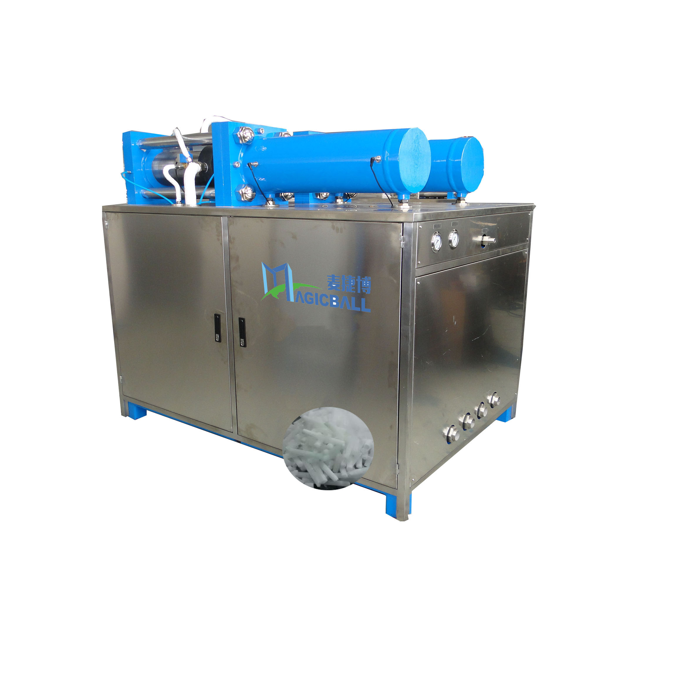 50kg/h small dry ice pelletizer