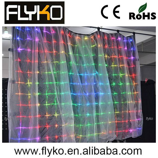 2m*3m led video curtain, led vision cloth,Led cloth rgb background cloth