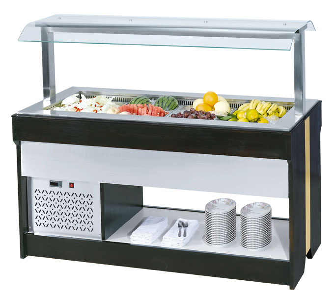 Hotel-used commercial salad bar equipment 182010501380MM commercial salad bar