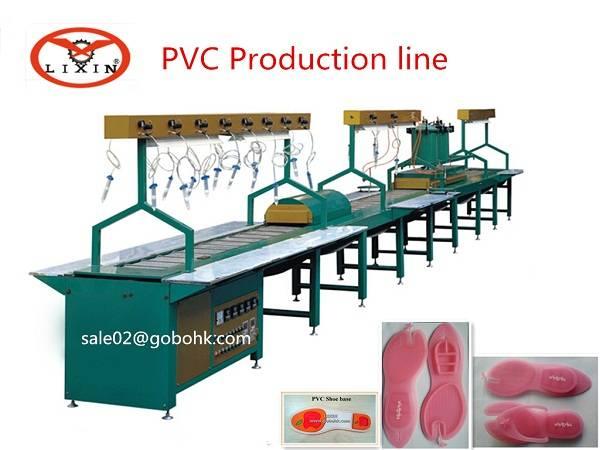 Automatic pvc shoe sole production line