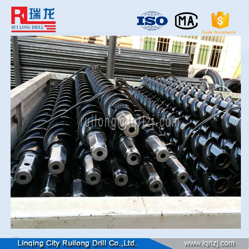 100mm spiral drill rod with 8000-12000NM can drill 100-300m
