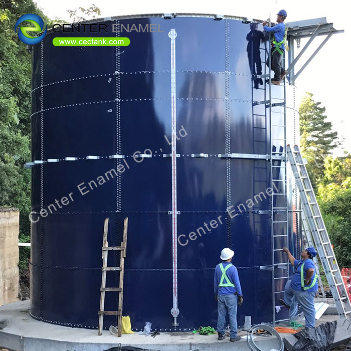 Bolted Steel Grain Storage Tanks With Aluminium Dome Roof