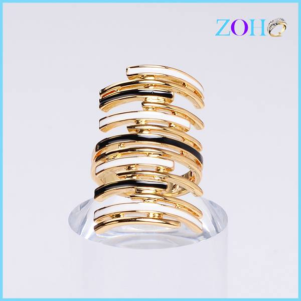 New design elegant royal ring without stone exaggerated customized rings jewelry