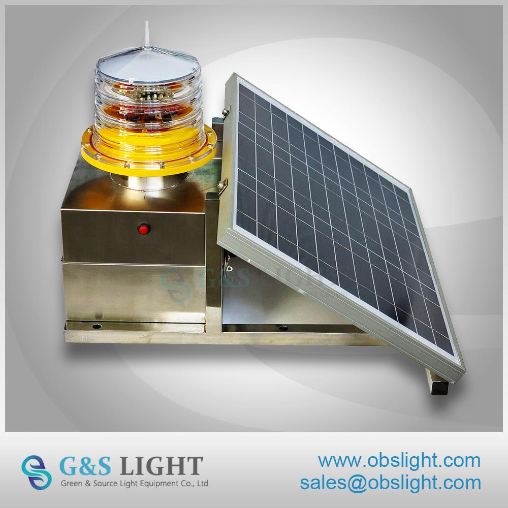 Medium-intensity Type B Solar Aviation Obstruction Light