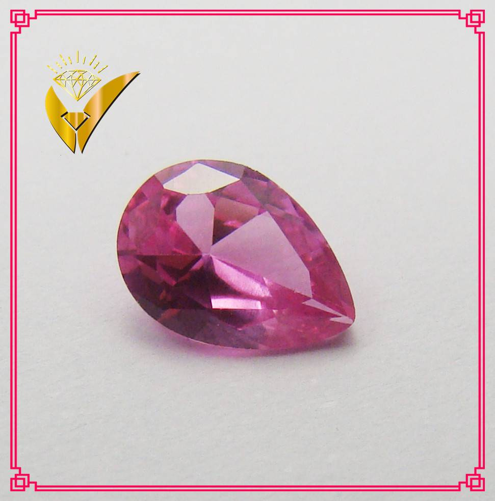 pear cut 5# synthetic ruby red