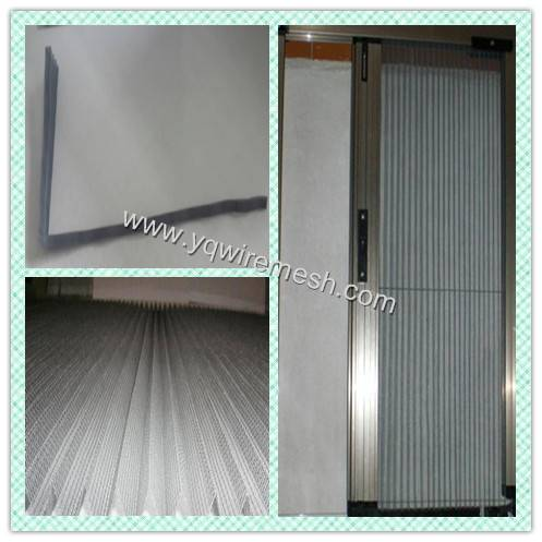 Pleated and Cornered Micro Polyester Window Screen Mesh