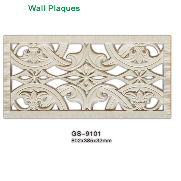 High density polyurethane wall plaque