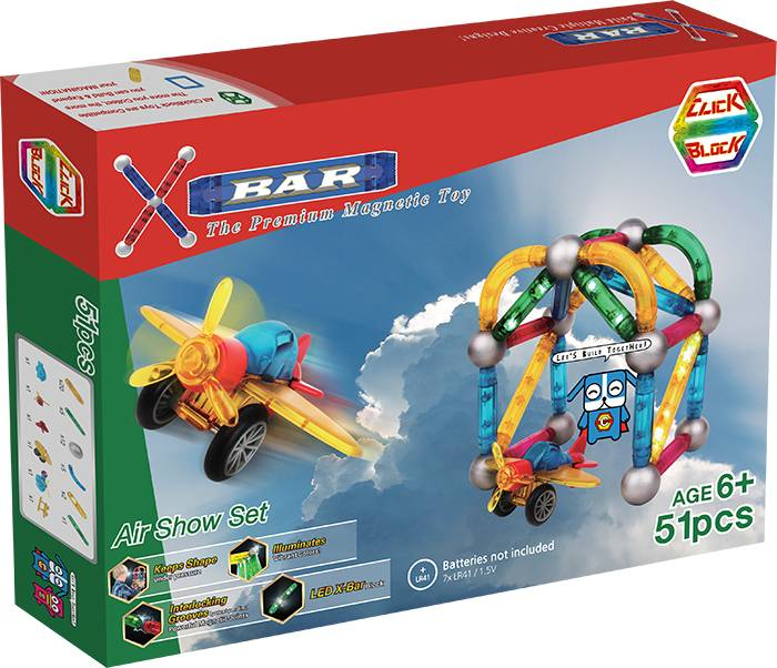 X-BAR AIR SHOW Educational magnetic block toy