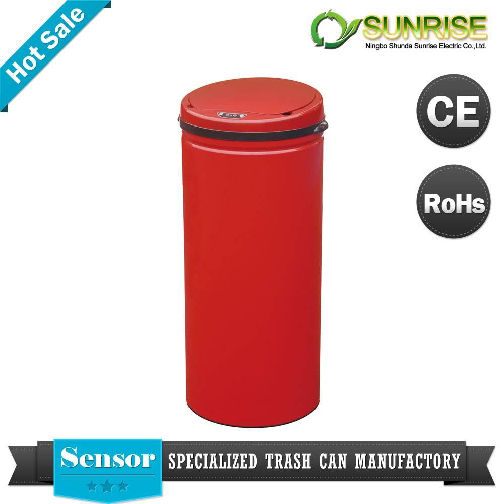 Red Color Steel Sensor Big Dustbin