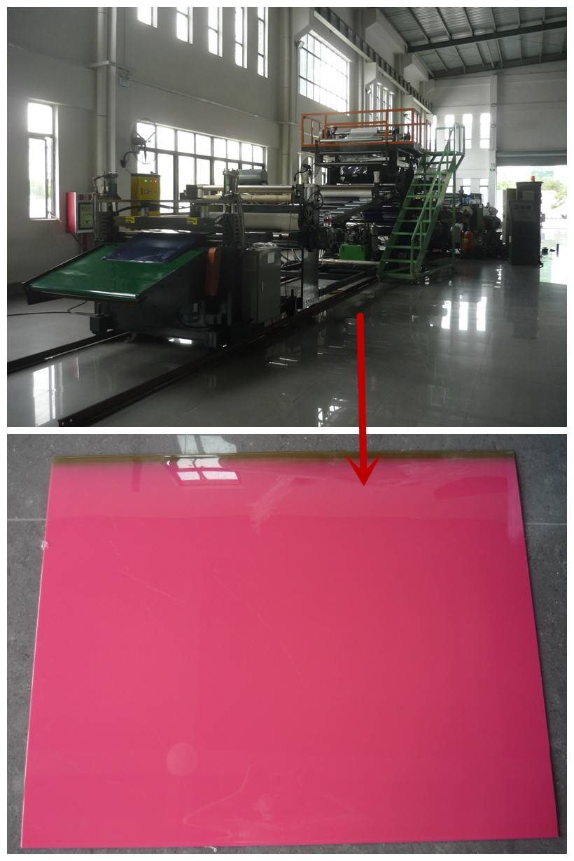 Suitcase ABS/PC co-extruison luggage sheet making machine