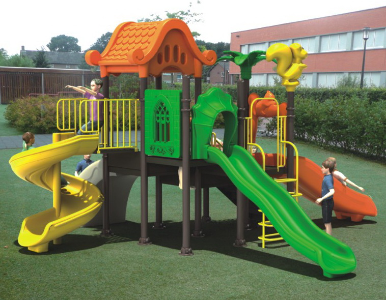 Bright color commercial outdoor playground