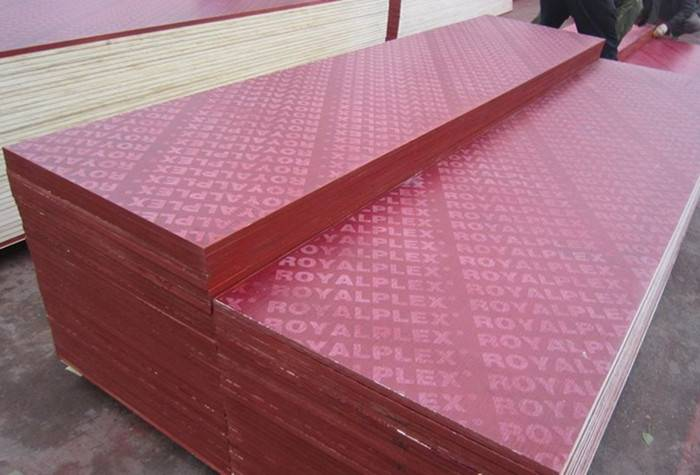 Red Film Faced Plywood with Logo