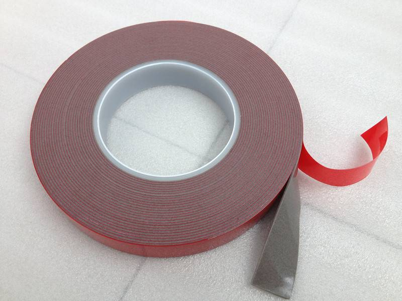 3M Euivalent Automobile Building Industry Strong Bonding Red Liner Double Sided Grey VHB Tape