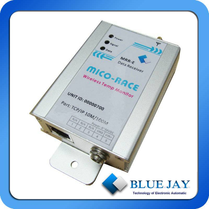 Wireless Sensor With Temperature and Humidity Probe, Recorder for Electrical Industrial, Medical, Co