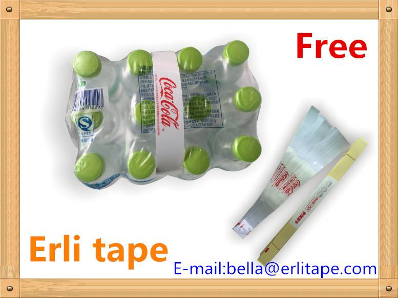 adhesive carry handles for multipacks like mineral water