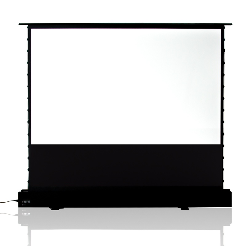 XYSCREEN 100-180 inch Tab Tension Motorized Floor Rising Projection Screen with Anti-Pinching System