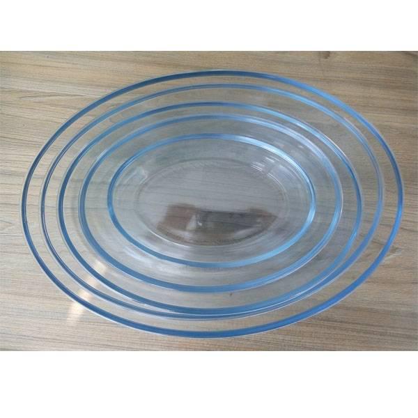 Oval borosilicate glass bakeware sets