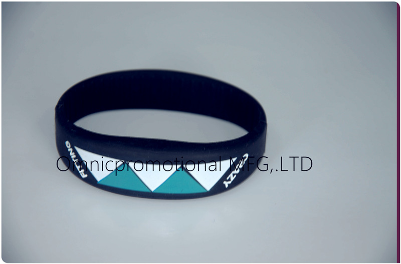 RFID silicone wristband with lines inside of band